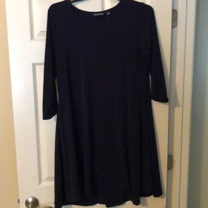 NINA LEONARD navy swing dress